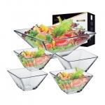 Saladeira de Vidro Quadrada Ruvolo Milão – Klassikglass 5 Peças