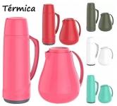Garrafa Térmica Cristal 1L e Bule Térmico Sonetto – 750ml Soprano Vermelho