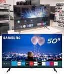 "Smart TV Crystal UHD 4K LED 50"" Samsung – 50TU8000 Wi-Fi Bluetooth HDR 3 HDMI 2 USB"