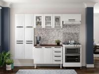 Cozinha Compacta Colormaq Barcelona 10 Portas – Aço Branco