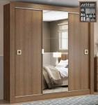 Guarda-roupa Casal 3 Portas de Correr Madesa – City 1056-1E com Espelho