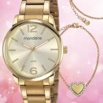 Relógio Feminino Mondaine Analógico – 53819LPMVDE1KC Dourado com Acessório