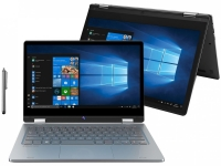 Notebook 2 em 1 Positivo Duo C4128C Intel Celeron 4GB 128GB 11.6″ IPS Full HD touch Windows 10 Home, Cinza – Inclui Microsoft 365 Personal por 1 ano