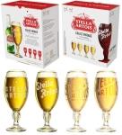 Kit Cerveja Stella Artois Cálice Vintage Premium – American Lager 4 Unidades 275ml com 1 Cálice