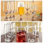 Kit Jogo de Taças de Vidro para Cerveja Floripa – 300ml + Jogo de Copos 400ml 12 Unidades Nadir