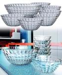 Conjunto de Tigelas de Vidro, Bubble, 7 peças, Transparente, Euro