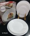 Aparelho de Jantar 12 Peças Duralex Vidro Redondo
