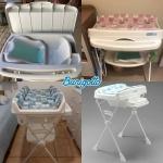 Banheira de Bebê Burigotto com Suporte e Trocador – Millenia Peixinhos 20L