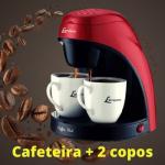 Cafeteira Elétrica Lenoxx PCA 031 Preta e Vermelha – 2 Xícaras