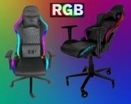 Cadeira Gamer DN1 RGB Preto Rodas de Silicone – DRAXEN