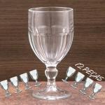 Conjunto de Taças 340ml Água Bristol 12 Peças – Nadir