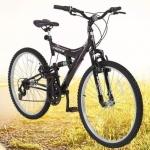 Mountain Bike Aro 26 Track & Bikes TB 200/PP – Aço Carbono Freio V-Brake 18 Marchas