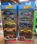 Pacote 5 Carros Sortidos, Hot Wheels, Mattel