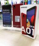 """Smartphone Samsung Galaxy A01 Core 32GB Vermelho – Quad-Core 2GB RAM Tela 5,3"""" Câm. 8MP + Selfie 5MP Vermelho"""