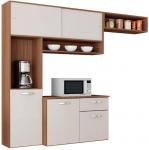 Cozinha Compacta Suspensa c/Balcão Thais-poquema – Capuccino/Off white