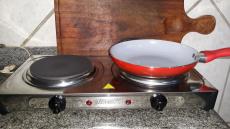 Fogão Elétrico 2 Bocas de Mesa Inox 2000W – Mondial Fast Cook FE-03