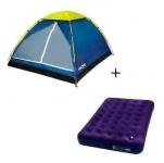 Barraca camping iglu 4 pessoas + colchão inflável casal mor