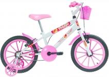 Bicicleta Infantil Aro 16 Polikids Branca Polimet Meninas Branco