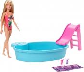 Barbie Piscina com Boneca, Multicolorido, GHL91, Mattel