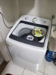 Lavadora de Roupas Consul CWH11 ABANA – 11kg Cesto Inox 15 Programas de Lavagem 110V