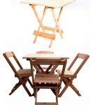 Conjunto 4 Cadeiras1 Mesa 70 X 70 – Madeira