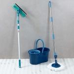 Mop Giratório Fit + Limpa Vidros – Fun Clean