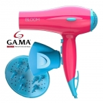 Secador GAMA Bloom Ceramic Ion Rosa e Azul – 127 Volts