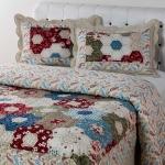 Colcha Casal Boutis Edimburgo com 2 Portas Travesseiros – Casa & Conforto