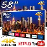 Smart TV LED 58 Polegadas PTV58F80SNS Ultra HD 4K Philco
