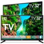TV LED 32″ HQ HQTV32 Resolução HD com Conversor Digital 3 HDMI 2 USB Recepção Digital