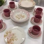 Aparelho de Jantar Chá 30 Peças Biona Cerâmica Redondo Rosa Donna AE30-5160