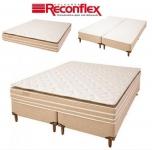 Cama Box Queen Size (Box + Colchão) Reconflex – Mola Ensacada 28cm de Alt. Prisma