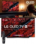 "Smart TV 4K OLED 55"" LG OLED55C9PSA Wi-Fi HDR – Inteligência Artificial 4 HDMI 3 USB"