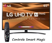 "Smart TV 4K LED IPS 65"" LG 65UM7470PSA Wi-Fi – Bluetooth HDR Inteligência Artificial 3 HDMI 2 USB"