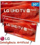 "Smart TV 4K LG LED 50"", Ultra Surround Sound, TV WebOS 4.5, Upscaler 4K, HDR Ativo e Wi-Fi – 50UM7500PSB"