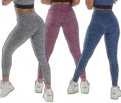 Kit 2 Calças Leggings Risca Fitness