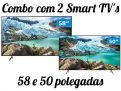 "Combo Smart TV 4K LED 58"" + 50"" Samsung – Wi-Fi Bluetooth HDR 3 HDMI 2 USB"