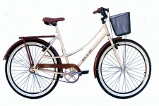 Bicicleta Caiçara Beach Brisa Aro 26 Vintage Retrô Marrom/Bege – Ello Bike