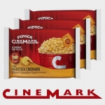 Kit 3 Pipocas Cinemark Manteiga