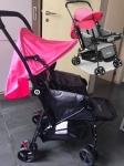 Carrinho de Bebê Berço com Bandeja Nap Weego Rosa – 4013