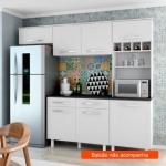 Cozinha Compacta Lorena 5 PT Branco – Madine