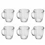 6 Canecas De Chá Vidro Nespresso Dolce Gus Pisa 370 Ml Lyor