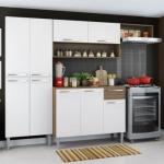 Cozinha Completa Compacta Madesa Emilly com Armário e Balcão Rustic/ Branco (cód. magazineluiza.com 690679500)