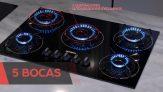 Cooktop 5 Bocas Mondial a Gás GLP Preto – CTG-02